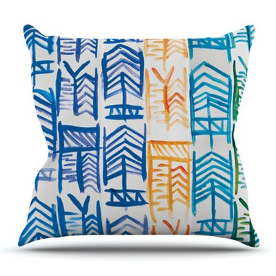 Quiver by Theresa Giolzetti Outdoor Throw Pillow Color: Blue