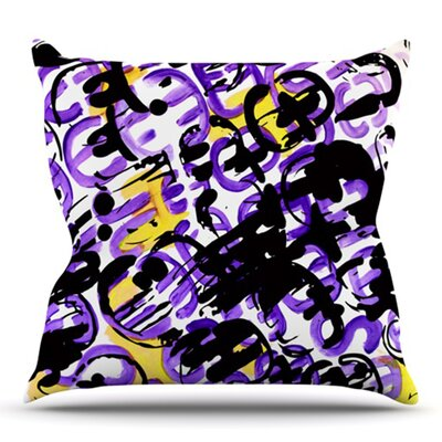 Theodoras Mess by Theresa Giolzetti Outdoor Throw Pillow Color: White/Black