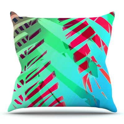 Tropical by Alison Coxon Outdoor Throw Pillow Color: Blue/Red