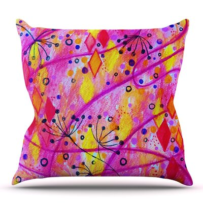 Into the Fall by Ebi Emporium Outdoor Throw Pillow Color: Pink