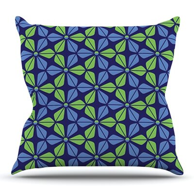 Infinite Flowers by Nick Atkinson Outdoor Throw Pillow Color: Red
