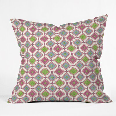 Polyester Throw Pillow Size: 18