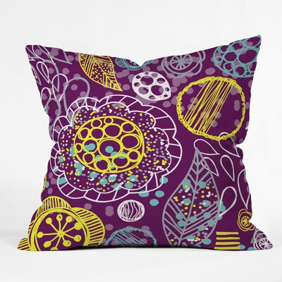 Polyester Throw Pillow Size: 26