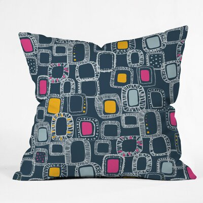 Shapes and Squares Polyester Throw Pillow Size: 16 H x 16 W x 4 D, Color: Green
