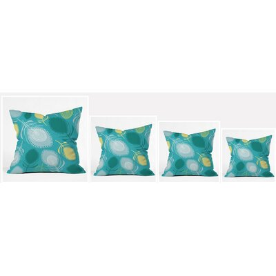 Feather Shapes Polyester Throw Pillow Size: 16 H x 16 W x 4 D
