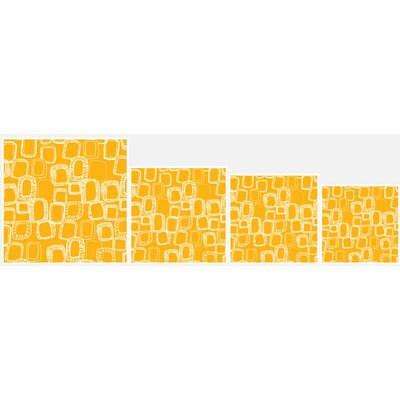 Shapes and Squares Mustard Polyester Throw Pillow Size: 26