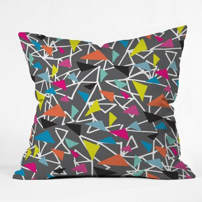 Triangle Maze Polyester Throw Pillow Size: 26 H x 26 W x 7 D