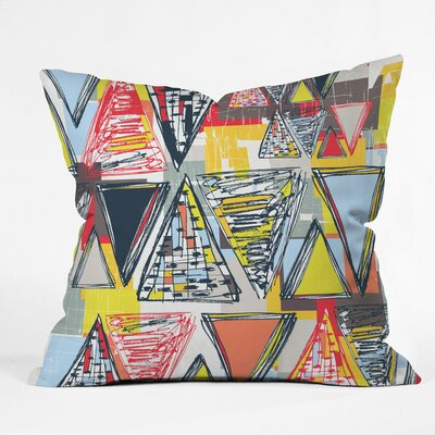 Mosaic Madness Polyester Throw Pillow Size: 26 H x 26 W x 7 D