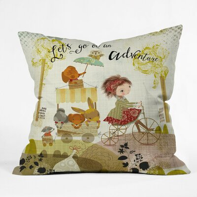 Go On An Adventure Polyester Throw Pillow Size: 18 H x 18 W x 5 D