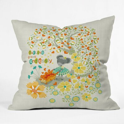 Our Love Grows Endlessly Polyester Throw Pillow Size: 20 H x 20 W x 6 D