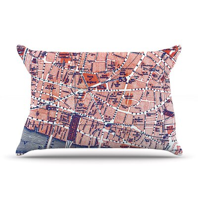 City of London by Alison Coxon Map Cotton Pillow Sham