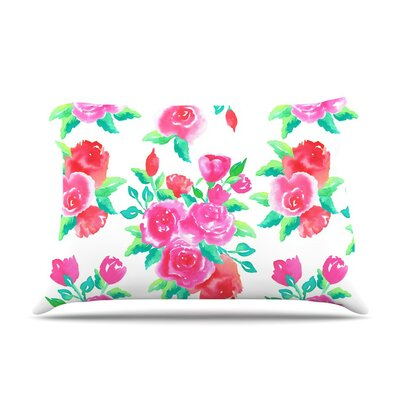 Roses Magenta Floral by Anneline Sophia Cotton Pillow Sham