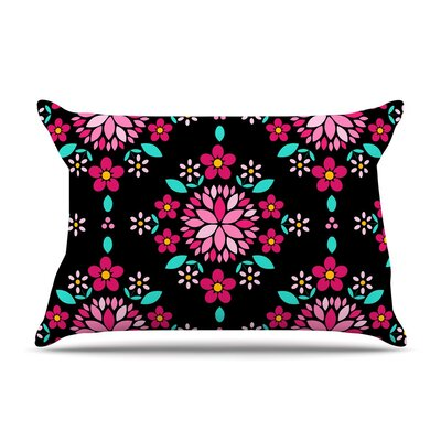 Dahlia Mandala by Anneline Sophia Cotton Pillow Sham