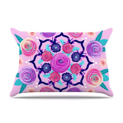 Expressive Blooms Mandala by Anneline Sophia Floral Cotton Pillow Sham