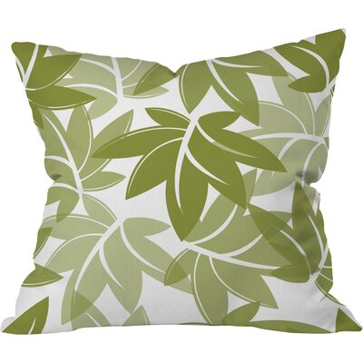 Leaves Polyester Throw Pillow Size: 16 H x 16 W x 4 D