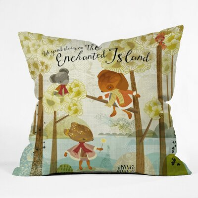 The Enchanted Island Polyester Throw Pillow Size: 16 H x 16 W x 4 D