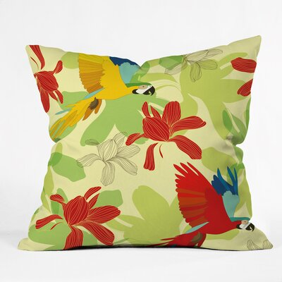 Beauty Of Forest Polyester Throw Pillow Size: 18 H x 18 W x 5 D