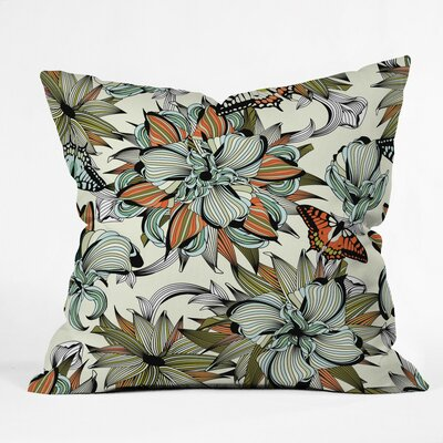 Blooming Garden Polyester Throw Pillow Size: 16 H x 16 W x 4 D
