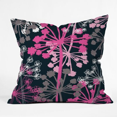 Cow Parsley Polyester Throw Pillow