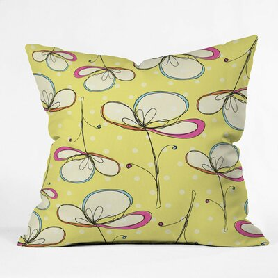 Floral Umbrellas Polyester Throw Pillow