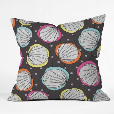 Scribble Shells Polyester Throw Pillow