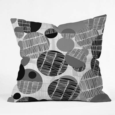 Textured Geo Polyester Throw Pillow Color: Gray