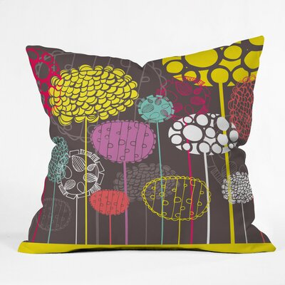 Abstract Ovals Polyester Throw Pillow Size: 16 H x 16 W x 4 D