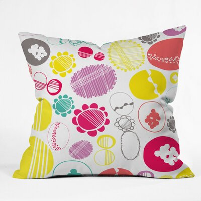 Bright Abstract Ovals Polyester Throw Pillow Size: 20 H x 20 W x 6 D