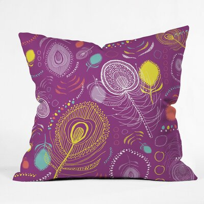 Peacocks Polyester Throw Pillow Size: 20 H x 20 W x 6 D
