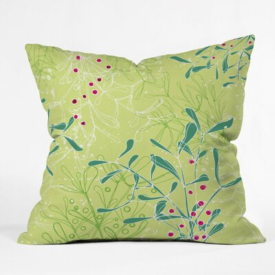 Mystic Mistletoe Polyester Throw Pillow Size: 16 H x 16 W x 4 D