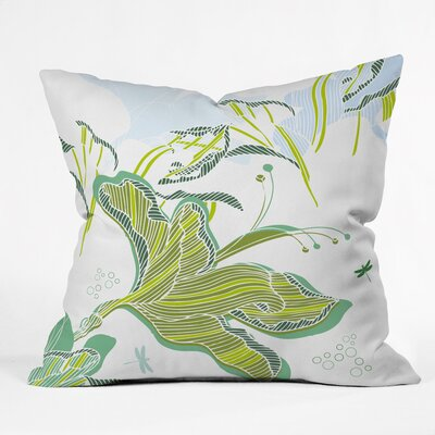 Sabine Reinhart Lake Modern Polyester Throw Pillow Size: 16 H x 16 W x 4 D