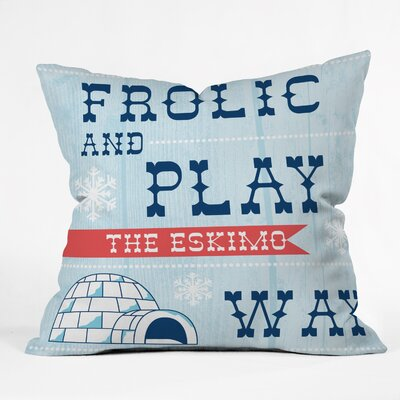 Frolic and Play Throw Pillow Size: 16 H x 16 W x 4 D