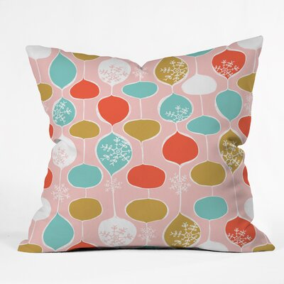 Snowflake Holiday Bobble Chill Throw Pillow Size: 26 H x 26 W x 7 D, Color: Pink