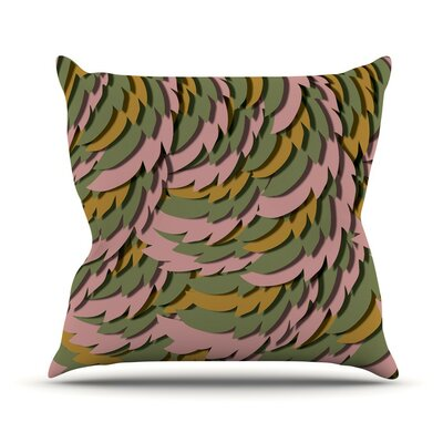 Wings II Akwaflorell Throw Pillow Size: 20 H x 20 W x 4 D