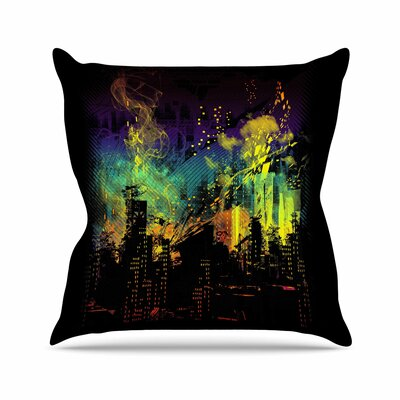 City Grid by Frederic Levy-Hadida Throw Pillow Size: 16 H x 16 W x 3 D