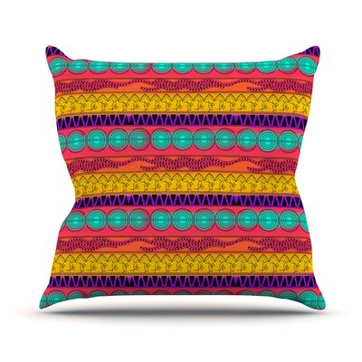 Pattern Watercolor Colorful by Famenxt Throw Pillow Size: 18 H x 18 W x 3 D