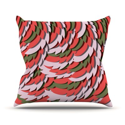 Wings Akwaflorell Throw Pillow Size: 18 H x 18 W x 4 D