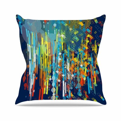 Color Fall by Frederic Levy-Hadida Throw Pillow Size: 26 H x 26 W x 5 D