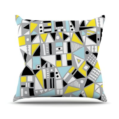 Fun Geo Too by Emine Ortega Throw Pillow Size: 16 H x 16 W x 3 D