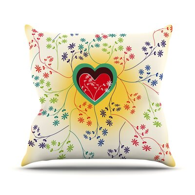 Romantic by Famenxt Throw Pillow Size: 18 H x 18 W x 3 D