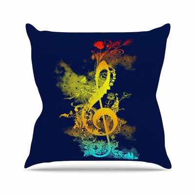 Sound of Nature by Frederic Levy-Hadida Throw Pillow Size: 16 H x 16 W x 3 D