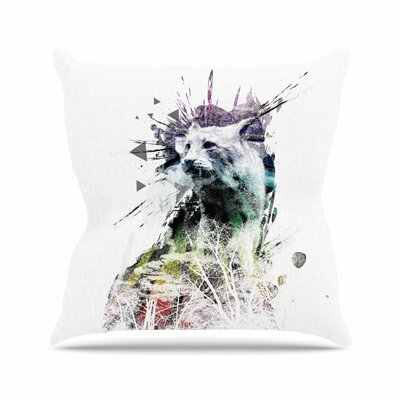 Predation Instinct by Frederic Levy-Hadida Throw Pillow Size: 18 H x 18 W x 3 D