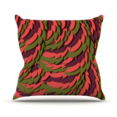 Wings III Akwaflorell Throw Pillow Size: 18 H x 18 W x 4 D