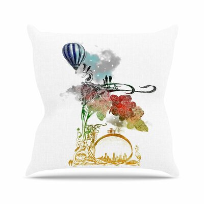 A Little Paradise by Frederic Levy-Hadida Throw Pillow Size: 18 H x 18 W x 3 D