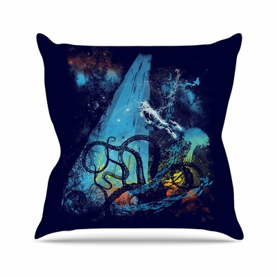 Danger from the Deep by Frederic Levy-Hadida Throw Pillow Size: 18 H x 18 W x 3 D