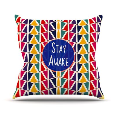Stay Awake by Famenxt Throw Pillow Size: 16 H x 16 W x 3 D