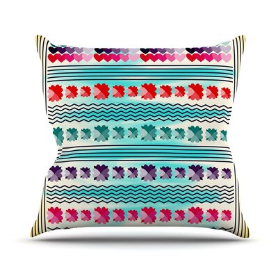 Love Pattern by Famenxt Throw Pillow Size: 16 H x 16 W x 3 D
