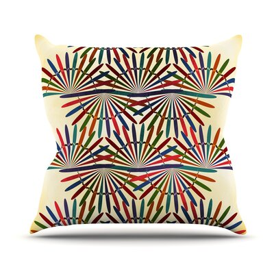 Colorful Abstract Pattern by Famenxt Throw Pillow Size: 16 H x 16 W x 3 D