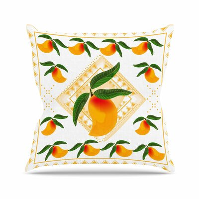 Fresh Farm Mangoes by Famenxt Throw Pillow Size: 16 H x 16 W x 3 D