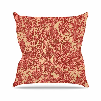 Floral Loop by Fotios Pavlopoulos Throw Pillow Size: 16 H x 16 W x 3 D